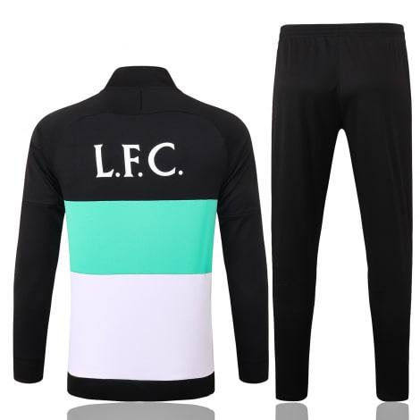 Черно-бело-мятный костюм Ливерпуля 2021-2022 сзади