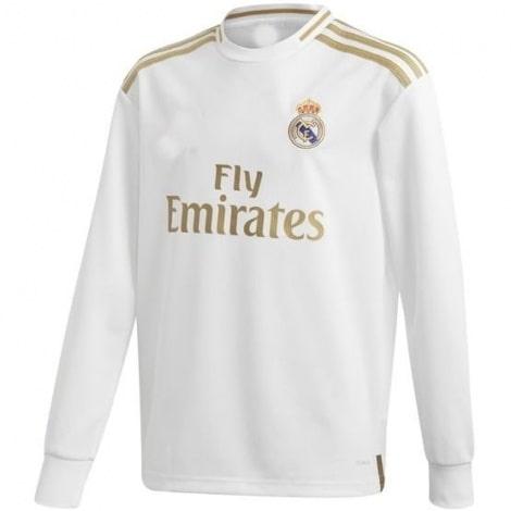 Детская домашняя форма Реал Мадрид 19-20 c длинными рукавами футболка