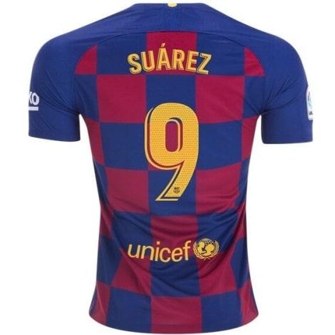 Домашняя футболка Барселоны 2019-2020 Луис Суарес номер 9