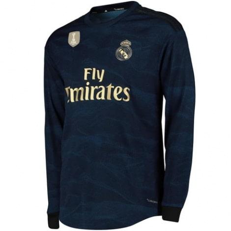 Взрослая гостевая форма Реал Мадрид 19-20 c длинными рукавами футболка сбоку