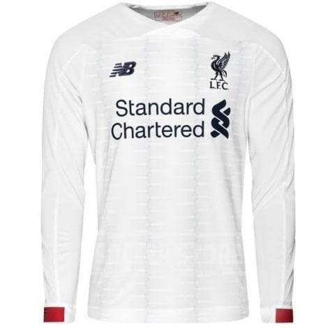 Взрослая гостевая форма Ливерпуля 19-20 c длинными рукавами футболка