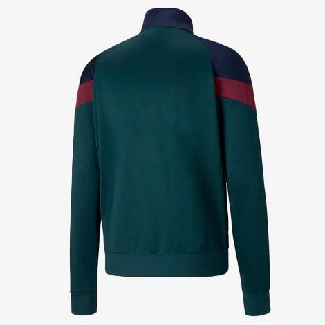 Зеленый костюм сборной Италии по футболу 2019-2020 олимпийка сзади