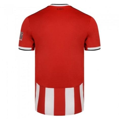 Домашняя игровая футболка Шеффилд Юнайтед 2019-2020 сзади