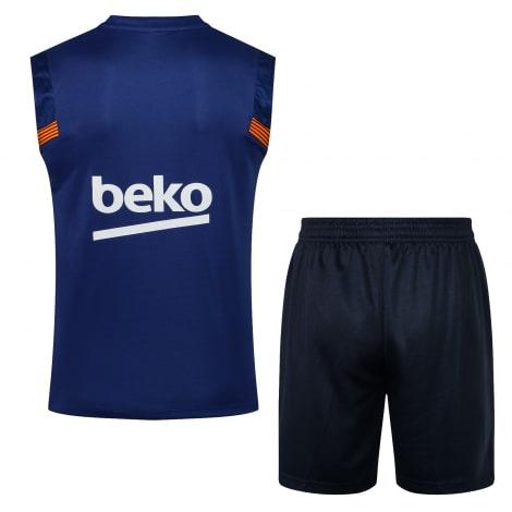 Синяя тренировочная форма Барселоны 2021-2022 сзади