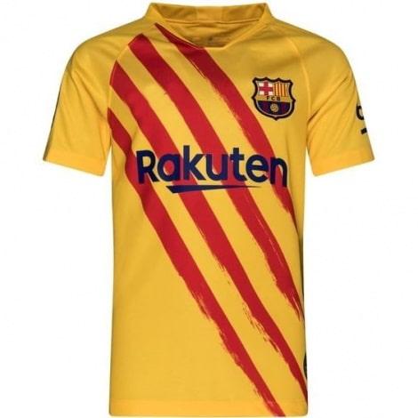 Комплект детской четвертой формы Барселоны 2019-2020 футболка
