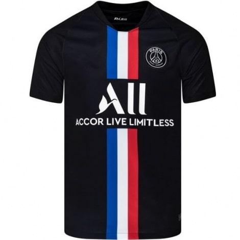 Комплект взрослой четвертой формы ПСЖ 2019-2020 футболка