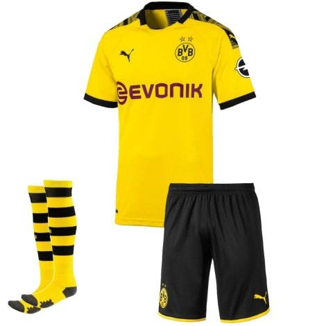 Детская домашняя форма Боруссии Холанн 2019-2020 футболка шорты и гетры спереди