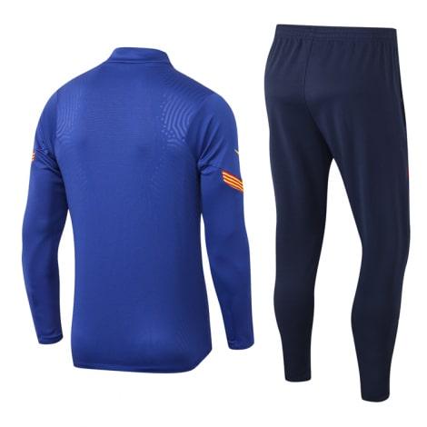 Синий костюм Барселоны 2021-2022 сзади