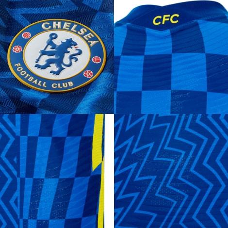 Домашняя аутентичная футболка Челси 2021-2022 логотипы