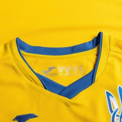 Домашняя футболка сборной Украины на Чемпионат Европы 2020 воротник Яремчук