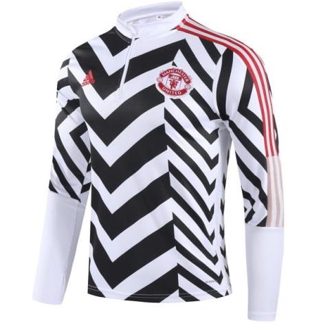 Черно-белый костюм Манчестер Юнайтед 2021-2022 кофта