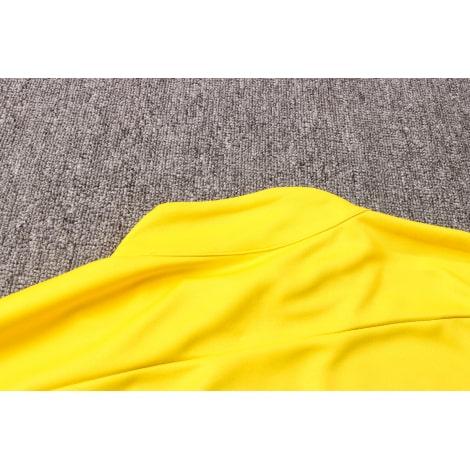 Черно-желтый костюм Боруссии Дортмунд 2021-2022 воротник сзади