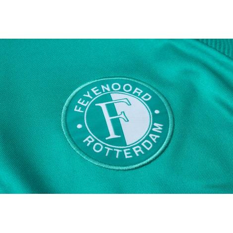 Зеленый спортивный костюм Фейеноорда 2021-2022 герб клуба
