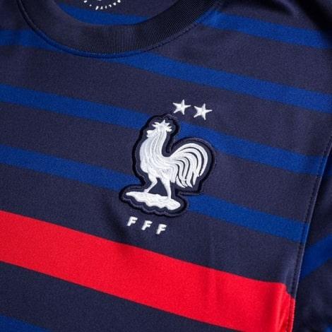 Домашняя футболка Франции ЕВРО 20-21 длинные рукава герб сборной