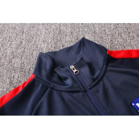 Черно-сине-красный костюм Атлетико Мадрид 2021-2022 воротник