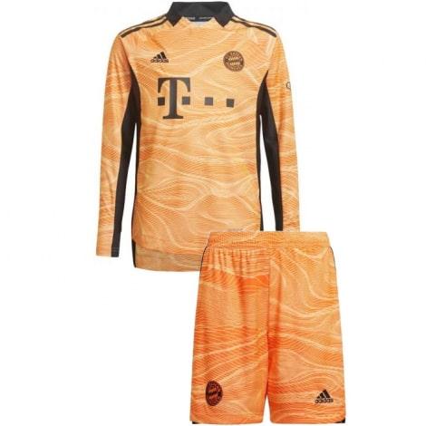Вратарская оранжевая футбольная форма Бавария 2021-2022