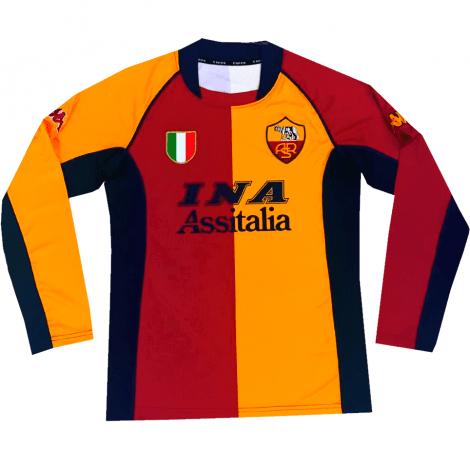 Домашняя футболка Ромы с длинными рукавами 2001-2002