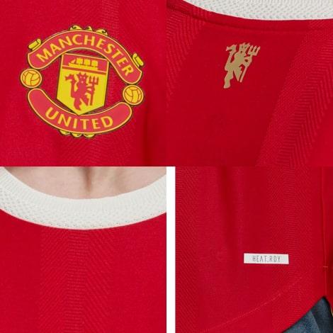 Домашняя аутентичная футболка Манчестер Юнайтед 2021-2022 логотипы