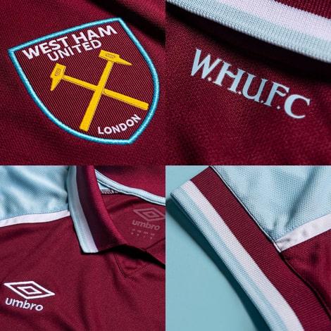 Комплект взрослой домашней формы Вест Хэм 2021-2022 логотипы