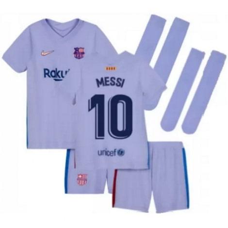 Детская гостевая футбольная форма Месси 2021-2022