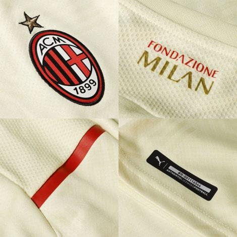 Гостевая аутентичная футболка Милан 2021-2022 логотипы