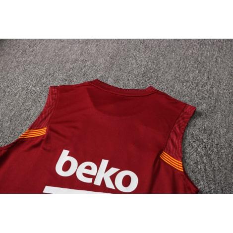 Красно-синяя тренировочная форма Барселоны 2021-2022 сзади