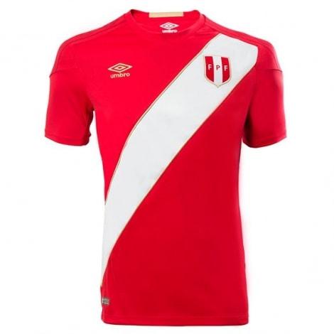 Гостевая футболка сборной Перу на чемпионат мира 2018