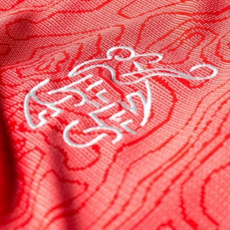 Домашняя футболка сборной Швейцарии на ЧМ 2018 лого