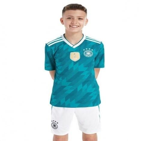 Детская гостевая футбольная форма Германии на ЧМ 2018 в России