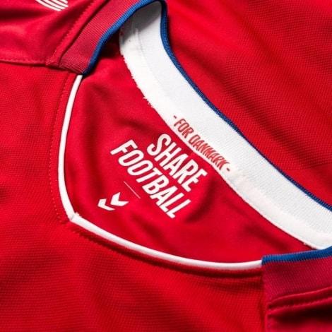 Домашняя футболка сборной Дании на чемпионат мира 2018 воротник
