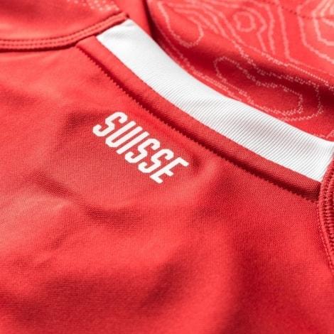 Домашняя футболка Швейцарии на ЧМ 2018 Шакири воротник сзади