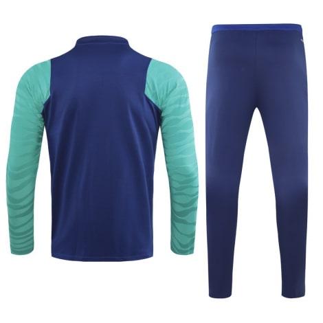 Сине-голубой костюм Барселоны 2021-2022 сзади