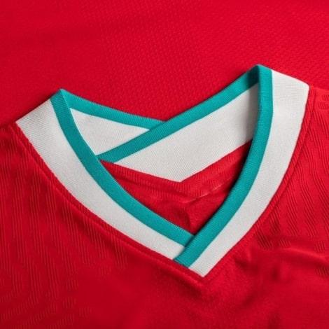 Домашняя аутентичная футболка Ливерпуля 2020-2021 воротник