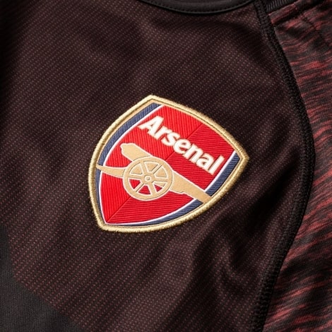 Вратарская домашняя футболка Арсенала 2018-2019 герб клуба