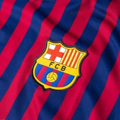 Домашняя майка Барселоны с длинными рукавами 2018-2019 герб клуба