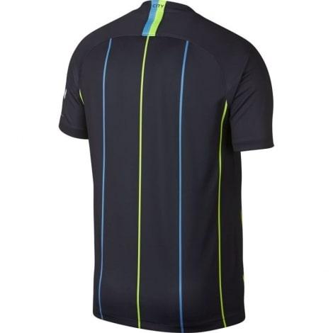 Взрослая гостевая футболка Манчестер Сити 2018-2019 сзади