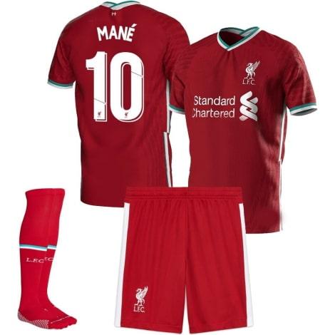 Детская домашняя футбольная форма Садио Мане 2020-2021 футболка шорты и гетры