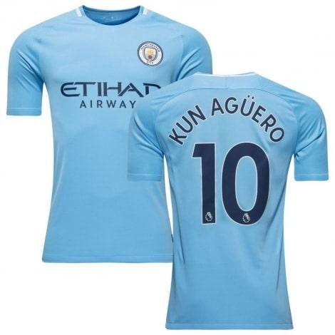 Домашняя футболка Манчестер Сити 2017-2018 Кун Агуэро
