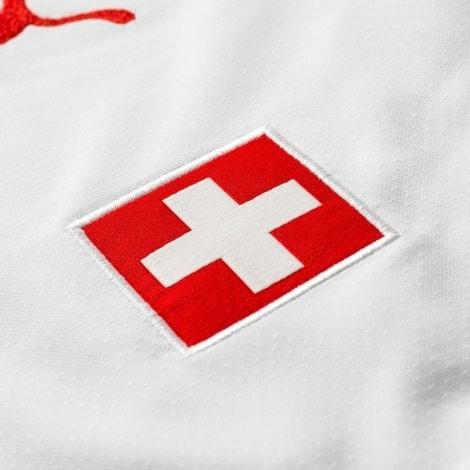 Гостевая футболка Швейцарии на ЧМ 2018 Джака флаг страны