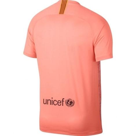 Третья игровая футболка Барселоны 2018-2019 сзади