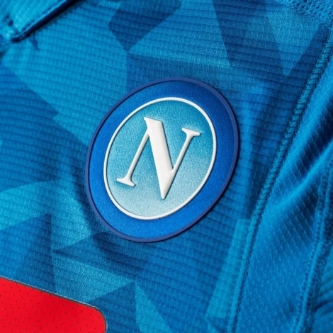 Домашняя игровая футболка Наполи 2018-2019 герб клуба
