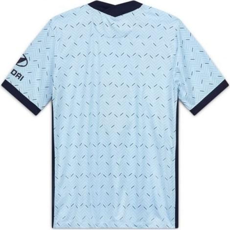 Комплект взрослой гостевой формы Челси 2020-2021 футболка  сзади