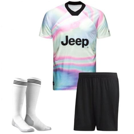 Детская радужная форма EA Ювентуса 2018-2019 футболка шорты и гетры