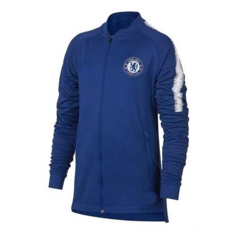 Взрослый синий тренировочный костюм Челси 2018-2019 кофта