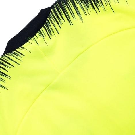 Взрослый сине-желтый костюм Барселоны 18-19 кофта сзади