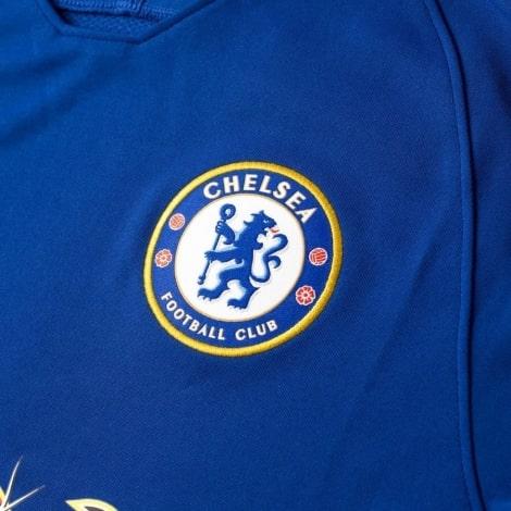 Синяя тренировочная футболка Челси 2018-2019 герб клуба