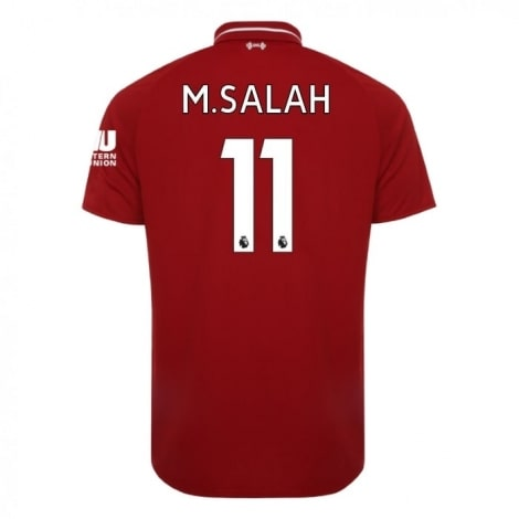 Детская домашняя футболка Салах номер 11 2018-2019