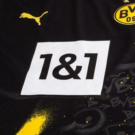 Женская гостевая футболка Боруссии Дортмунд 2020-2021 титульный спонсор