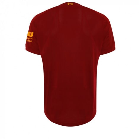 Комплект детской домашней формы Ливерпуля 2019-2020 футболка сзади