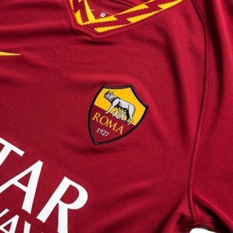 Комплект детской домашней формы Ромы 2019-2020 футболка герб клуба